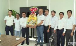 Ông Trần Văn Dũng thăm doanh nghiệp và kiểm tra tiến độ cao tốc Trung Lương – Mỹ Thuận