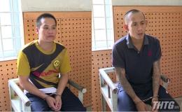 Công an huyện Cái Bè bắt 02 đối tượng cướp giật tài sản
