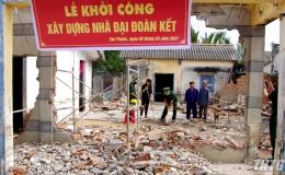 """Đồn Biên phòng Kiểng Phước khởi công xây dựng nhà """"Đại đoàn kết"""""""