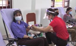 Huyện Tân Phú Đông tổ chức hiến máu nhân đạo