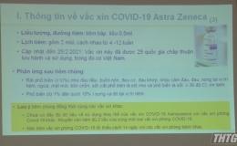 Tiền Giang tập huấn tiêm chủng vacxin phòng COVID-19
