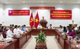Hội đồng bầu cử Quốc gia kiểm tra công tác chuẩn bị bầu cử tại Tiền Giang