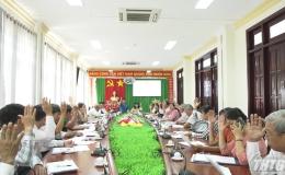 Cai Lậy tổ chức hiệp thương, giới thiệu danh sách ứng cử viên đại biểu HĐND huyện, nhiệm kỳ 2021 – 2026