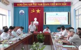 Phó Chủ tịch UBND tỉnh làm việc UBND Thị xã Gò Công