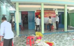 Lãnh đạo huyện Gò Công Đông kiểm tra công tác chuẩn bị bầu cử