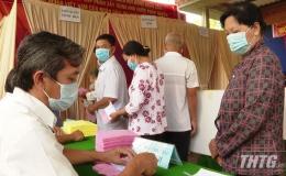 Cử tri Tiền Giang đi bầu cử đạt 99,85%