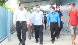 Chủ tịch UBND tỉnh kiểm tra công tác phòng, chống dịch Covid-19 tại các khu nhà trọ công nhân