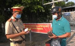Chuyên đề 08.6 – Đội cảnh sát giao thông huyện Cai Lậy làm tốt công tác phòng chống dịch bệnh Covid 19