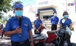 Chuyên đề 28.7 – Mô hình shipper áo  xanh TX Gò Công tình nguyện chung tay hỗ trợ người dân an tâm phòng chống dịch covid 19