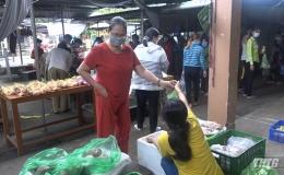 Gò Công Tây tổ chức phiên chợ bình ổn giá hỗ trợ người dân trong mùa dịch Covid-19