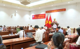 UBND tỉnh Tiền Giang tổ chức họp trực tuyến định kỳ 3 cấp về công tác phòng chống dịch Covid-19