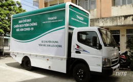 CDC Tiền Giang tiếp nhận xe chuyên dụng lưu động tiêm vắc-xin phòng Covid-19