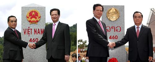 Hoàn thành tăng dày, tôn tạo hệ thống mốc quốc giới Việt Nam-Lào