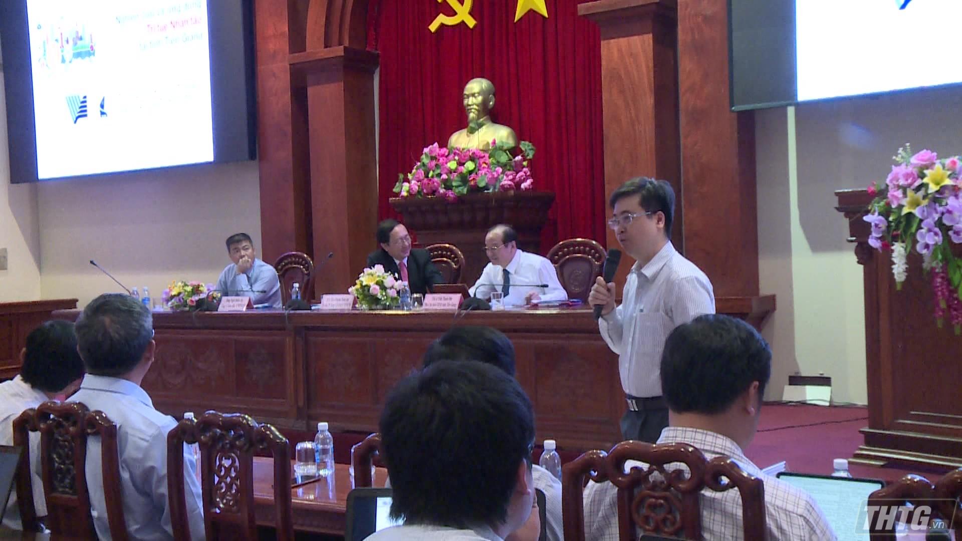 """Tiền Giang tổ chức hội thảo """"Xây dựng chính quyền số"""""""