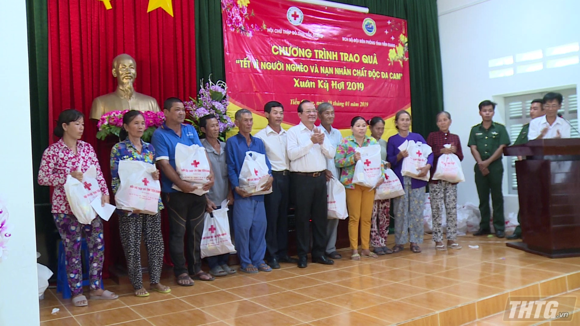 Hội Chữ thập đỏ tỉnh Tiền Giang tặng quà Tết