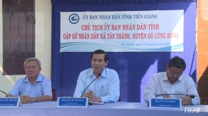 Chủ tịch UBND tỉnh Tiền Giang gặp gỡ nhân dân xã Tân Thành, huyện Gò Công Đông