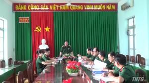 Bộ Chỉ huy Quân sự Tiền Giang kiểm tra công tác tuyển quân và ra quân huấn luyện năm 2019