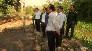 Phó Bí thư Tỉnh ủy Tiền Giang khảo sát khu vực diễn tập huyện Cái Bè