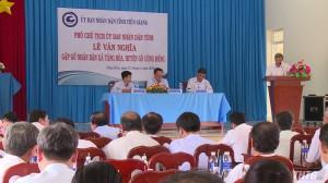Phó Chủ tịch UBND tỉnh Tiền Giang gặp gỡ và lắng nghe ý kiến người dân xã Tăng Hòa, huyện Gò Công Đông