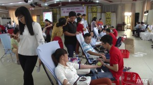Đoàn Khối các cơ quan tỉnh Tiền Giang hiến 286 đơn vị máu