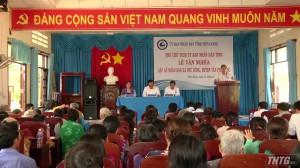 Lãnh đạo UBND tỉnh Tiền Giang gặp gỡ nhân dân xã Phú Đông, huyện Tân Phú Đông
