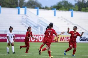 U15 nữ Việt Nam giành vé vào bán kết giải Đông Nam Á 2019