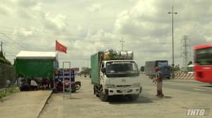 Lãnh đạo UBND tỉnh Tiền Giang kiểm tra các chốt kiểm dịch động vật