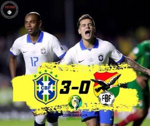 Brazil – Bolivia 3-0: Coutinho ghi cú đúp, Everton lập siêu phẩm