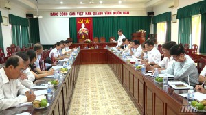 HĐND tỉnh Tiền Giang làm việc với Sở NN&PTNT