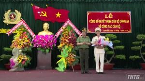 Phó Giám đốc Công an tỉnh Bến Tre nhận chức Giám đốc Công an tỉnh Tiền Giang
