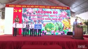 Xã Bình Phục Nhứt – Chợ Gạo ra mắt xã nông thôn mới