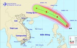 Xuấn hiện bão Bailu gần Biển Đông, giật cấp 12