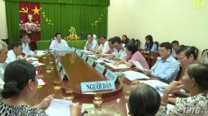 Bí thư Tỉnh ủy tiếp các hộ khiếu nại Thị xã Cai Lậy