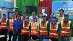Châu Thành ra mắt đội thanh niên tình nguyện ứng cứu nhanh tai nạn giao thông