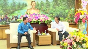 Bí thư Tỉnh ủy tỉnh Tiền Giang tiếp và làm việc với Chủ tịch Tổng LĐLĐ Việt Nam