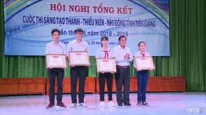 Có 1338 sản phẩm tham gia cuộc thi sáng tạo thanh thiếu niên nhi đồng tỉnh tiền Giang năm 2018-2019