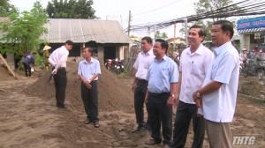Chủ tịch UBND tỉnh kiểm tra tiến độ xây dựng xã nông thôn mới Tân Hương