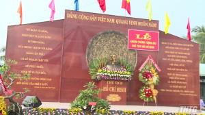 Khánh thành tượng đài Chủ tịch Hồ Chí Minh tại xã Xuân Đông, huyện Chợ Gạo