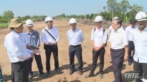 Chủ tịch UBND tỉnh kiểm tra tiến độ đường cao tốc Trung Lương – Mỹ Thuận