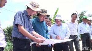 Ban Chỉ đạo Trung ương về phòng chống thiên tai kiểm tra tình hình sạt lở tại Tiền Giang