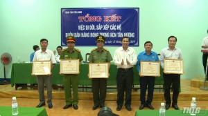 Tổng kết việc di dời, sắp xếp các hộ buôn bán hàng rong tại Khu công nghiệp Tân Hương