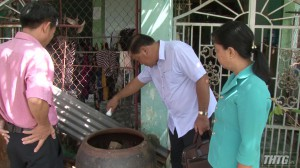 Kiểm tra tình hình sốt xuất huyết huyện Tân Phước