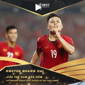 """Quang Hải đánh bại """"Messi Thái"""", bóng đá Việt Nam thống trị hạng mục quan trọng nhất AFF Awards 2019"""