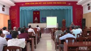 """Tân Phước tổ chức hội thảo """"Thâm canh cây thanh long bền vững, gắn kết tiêu thụ"""""""