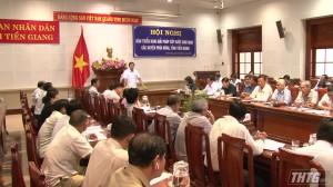 Chủ tịch UBND tỉnh Tiền Giang dự hội nghị cấp nước các huyện phía Đông