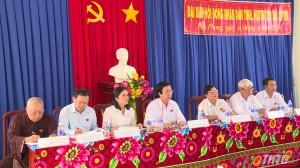 Chủ tịch HĐND tỉnh Tiền Giang tiếp xúc cử tri xã Phú Phong, huyện Châu Thành
