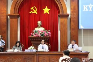 Đại biểu HĐND tỉnh Tiền Giang thảo luận và chất vấn nhiều vấn đề cử tri quan tâm