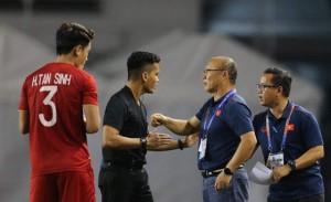 """HLV Park Hang Seo: Các cầu thủ đã thể hiện tinh thần Việt Nam: """"Quyết không bỏ cuộc"""""""