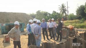 Chủ tịch UBND tỉnh Tiền Giang kiểm tra tiến độ thi công đường cao tốc Trung Lương – Mỹ Thuận