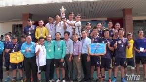 Bế mạc bóng đá bóng đá mini công nhân viên chức lao động, lực lượng vũ trang tỉnh Tiền Giang năm 2019